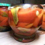 Перец маринованный с яблоками на зиму