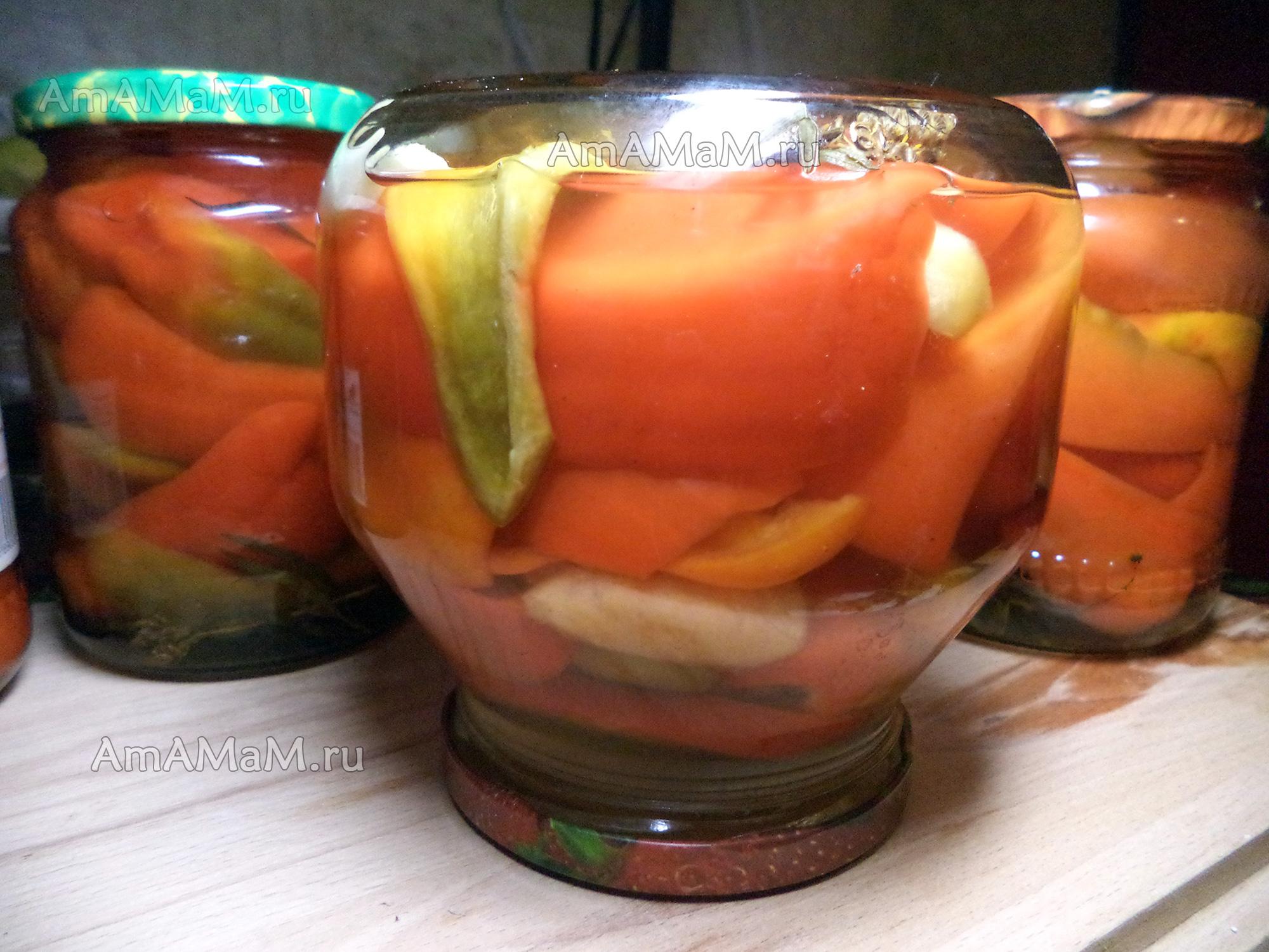 Яблоки и сладкий перец