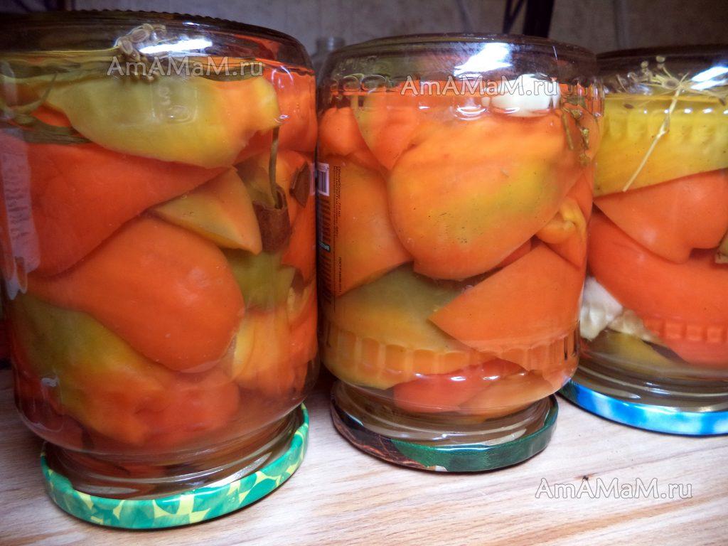 Сладкий перец и яблоки на зиму