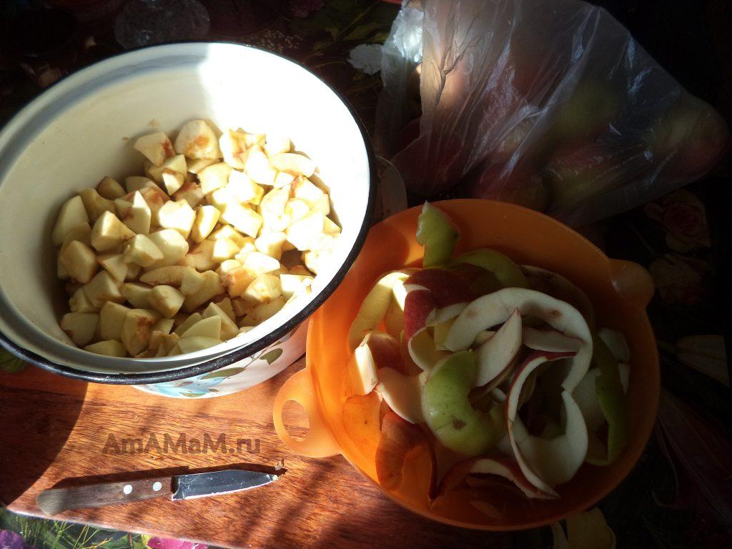 Чистка яблок для пюре