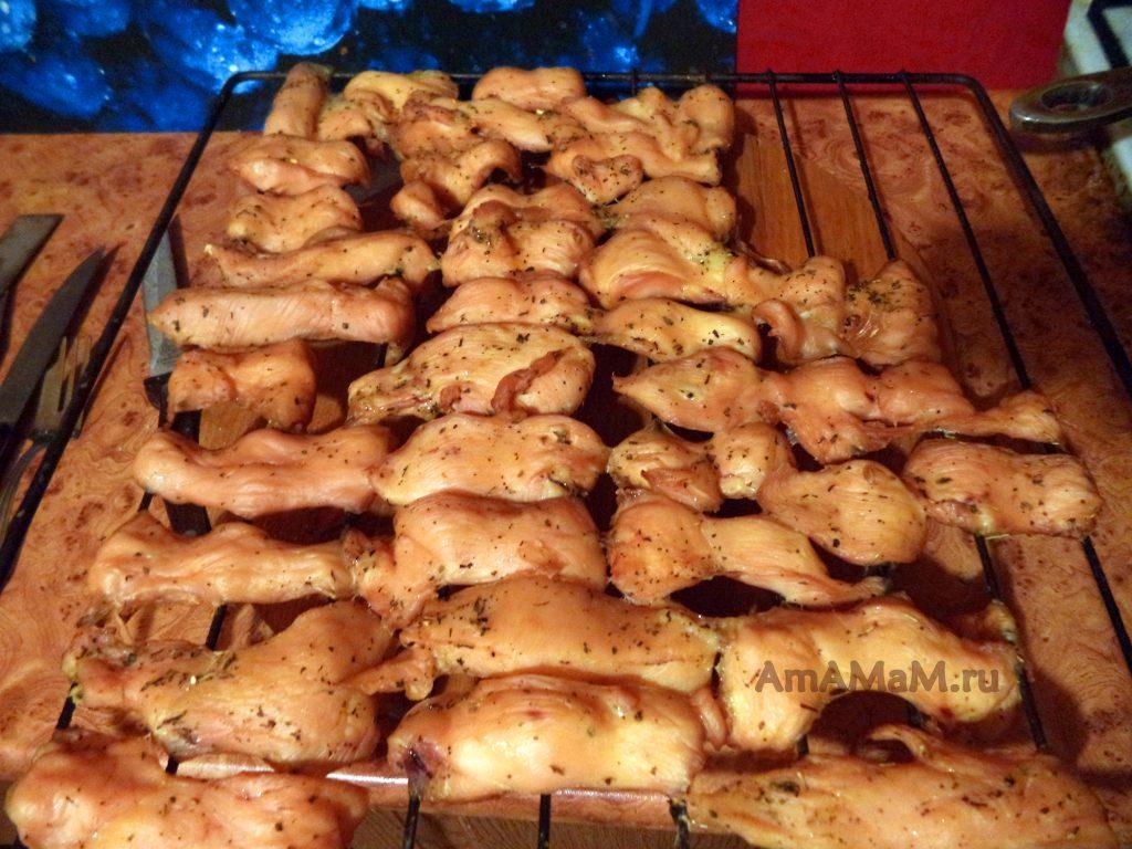 Как запекать джоки в духовке - мяленое куриное мясо (чипсы)