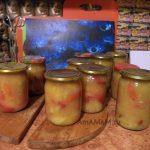 Перец в яблочном пюре - рецепт