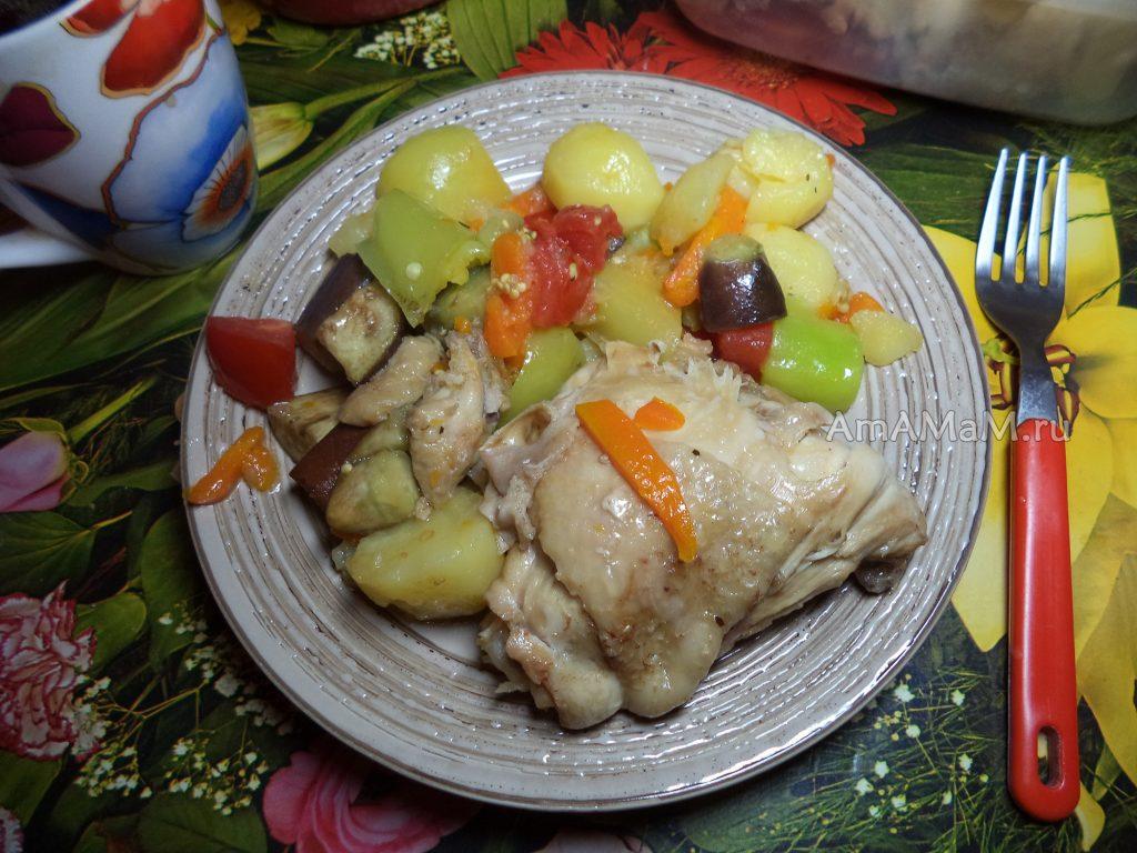 Рагу из курицы и овощей