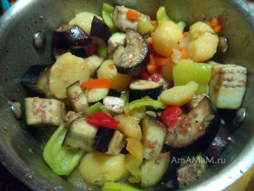 Приготовление овощного рагу с курицей - рецепт и пошаговые фото