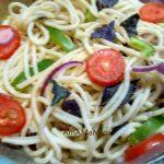 Салат из спагетти - как выглядит, рецепт