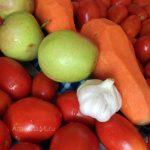 Домашний соус типа Краснодарского -помидоры, яблоки, морковь, чеснок