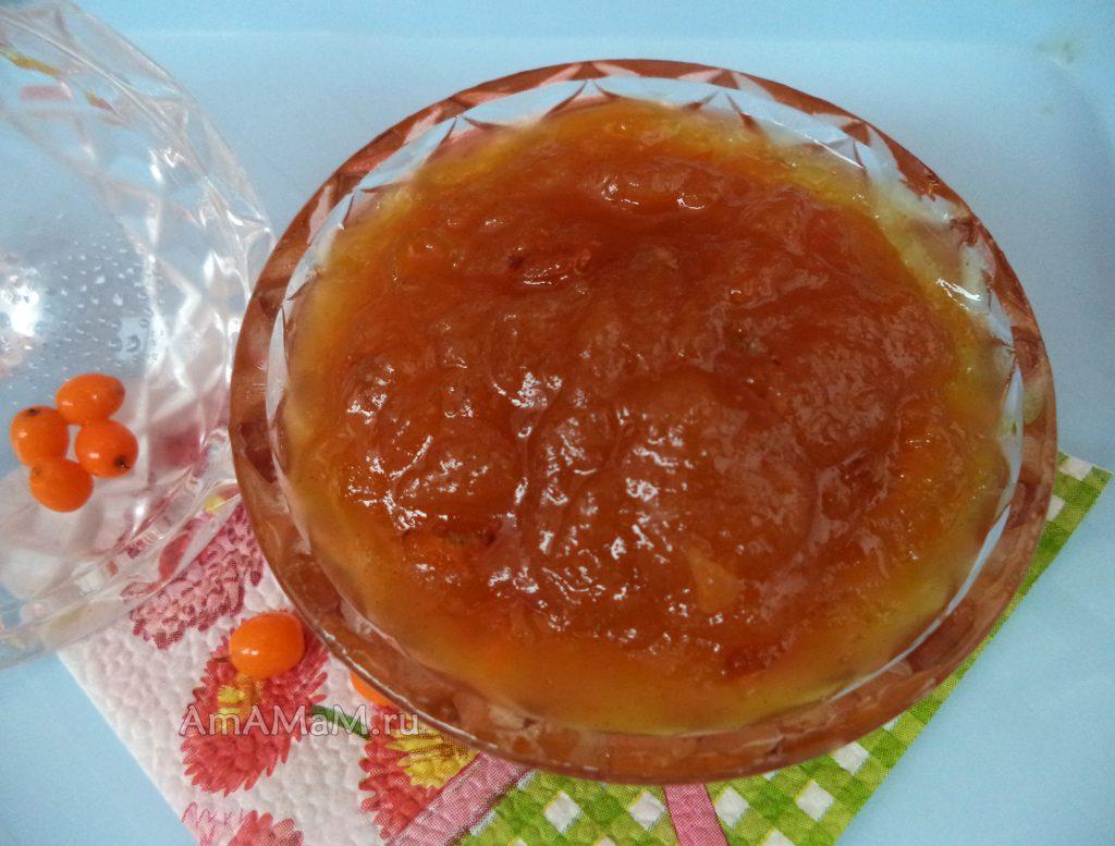 Облепиха с яблоками - рецепты