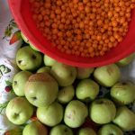 Яблоки с облепихой