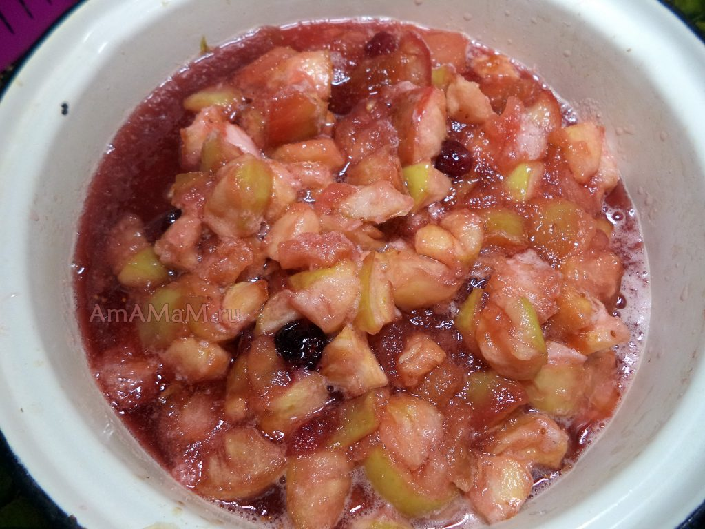 Рецепты варенья из яблок и брусники с фото