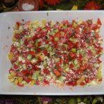 Овощи в заливке из яиц и майонеза