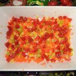 Овощи для запеканки в фарфоровой форме