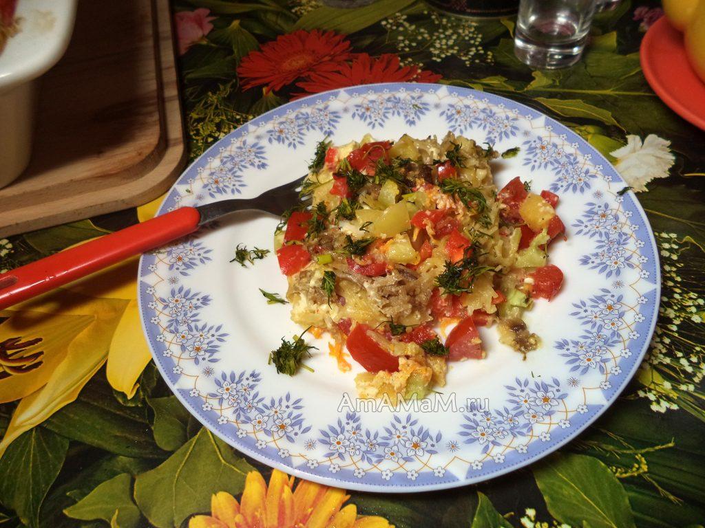 Овощи с вермишелью - фото и рецепт приготовления