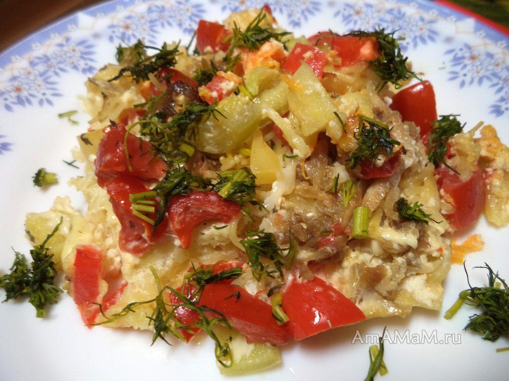 Вермишелевая овощная запеканка - рецепт и фото