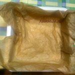 Пергаментная бумага в форме для запекания