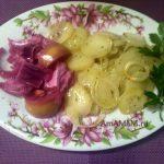 Гратен из картофеля с луком
