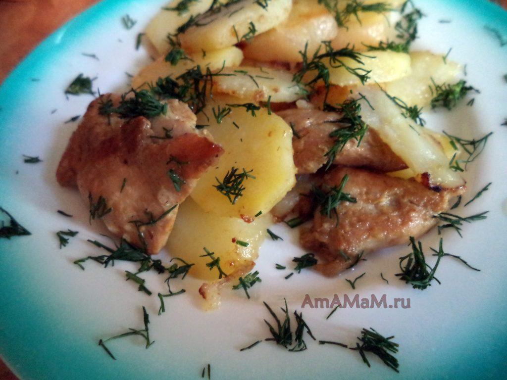 Грудка - рецепт в соевом соусе