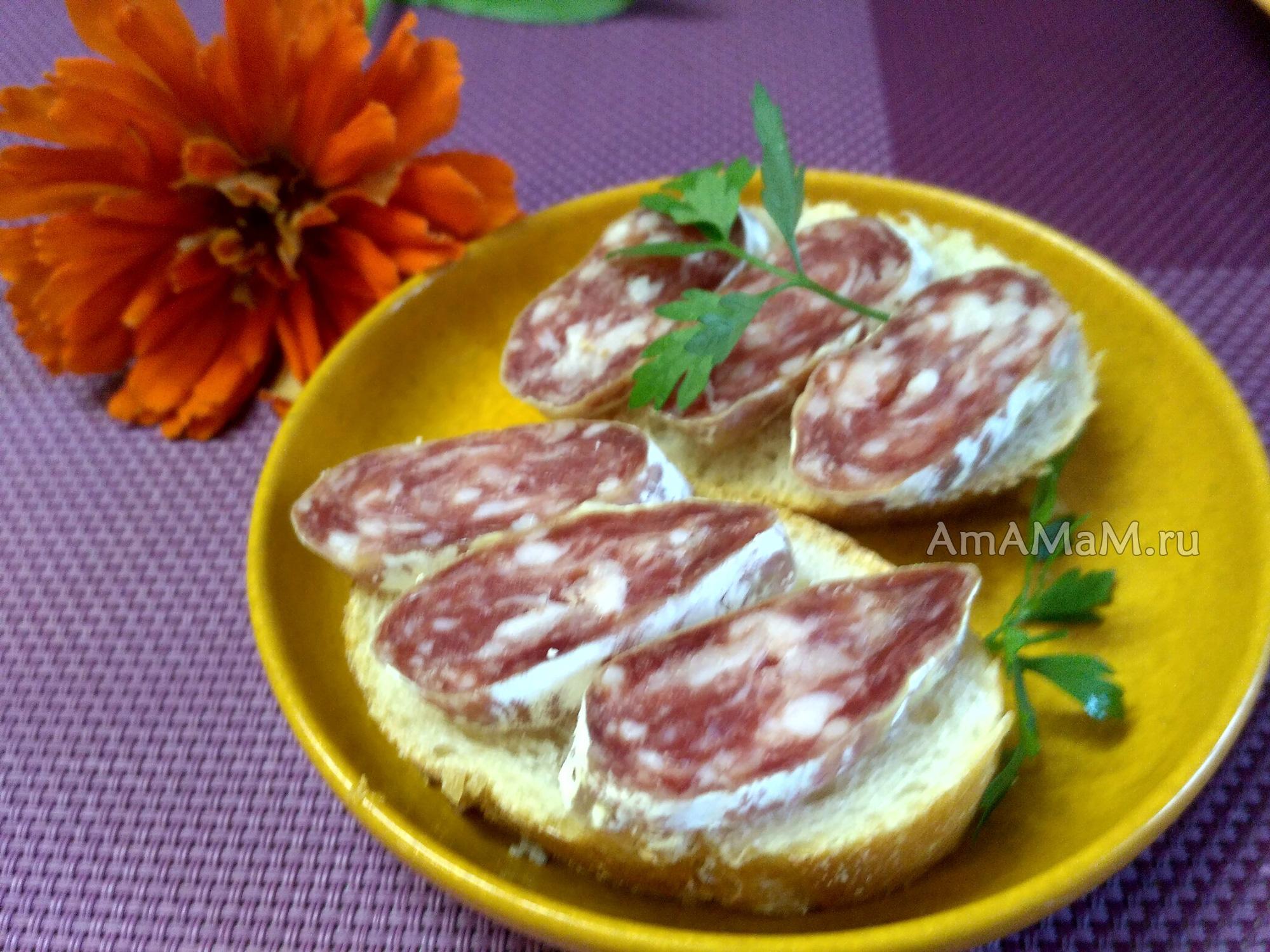 Как едят фуэт - фото колбасы