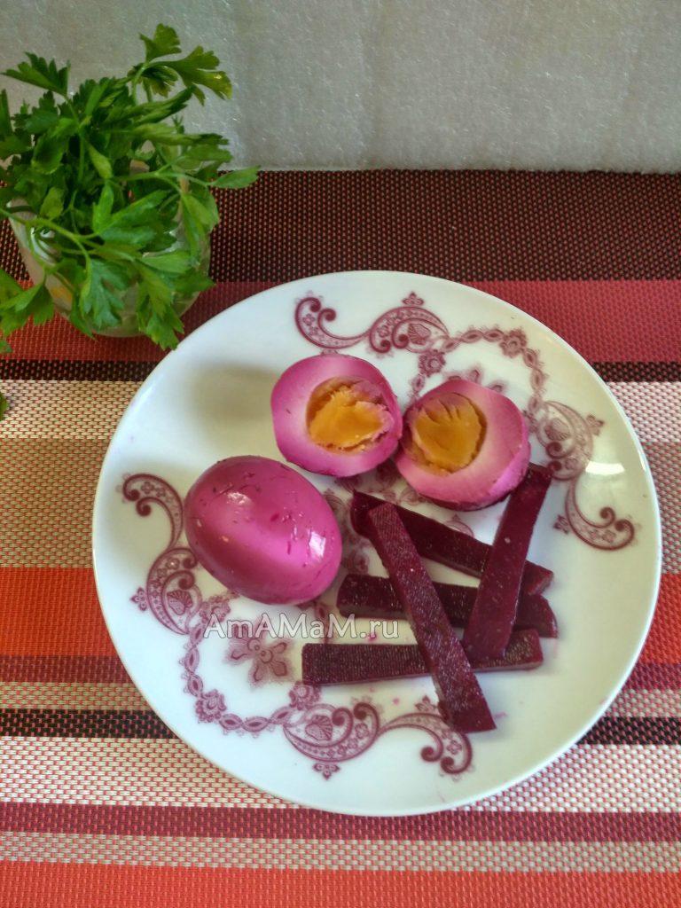 Яйца в маринаде со свеклой - рецепт