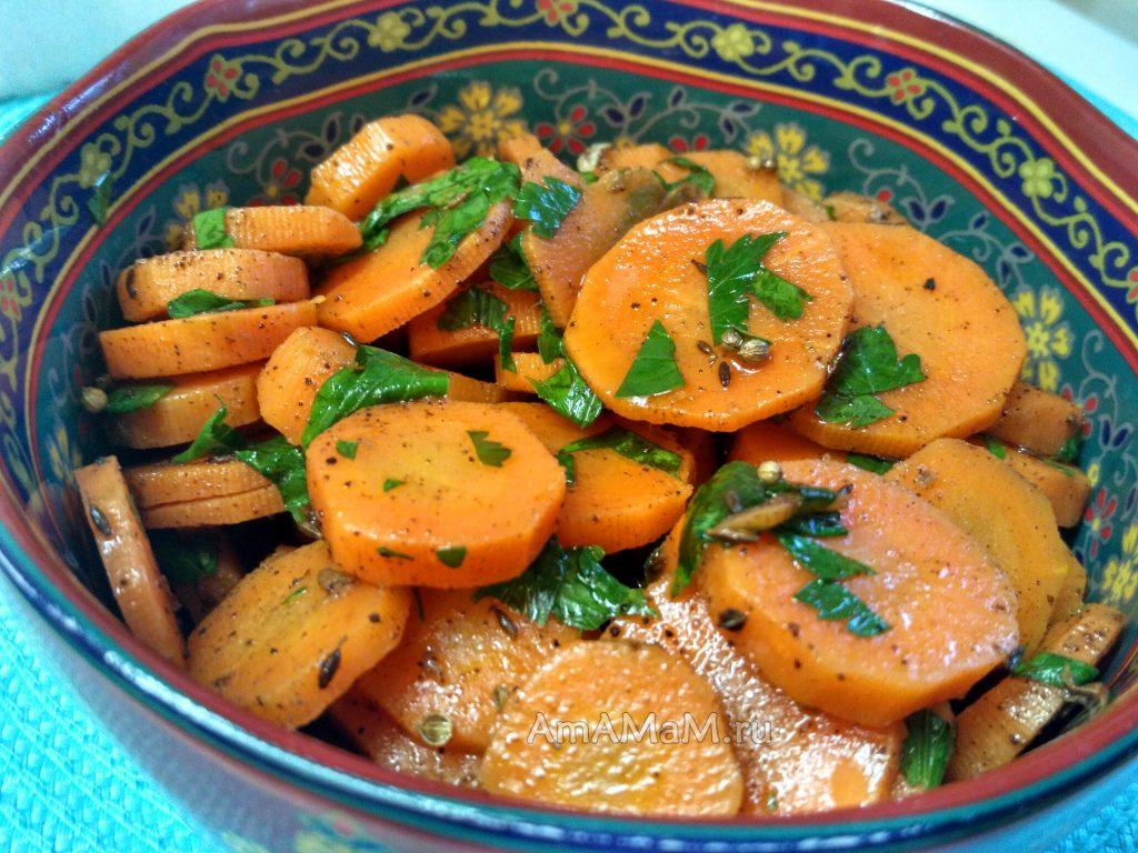 Морковный мсарокканский салат классический