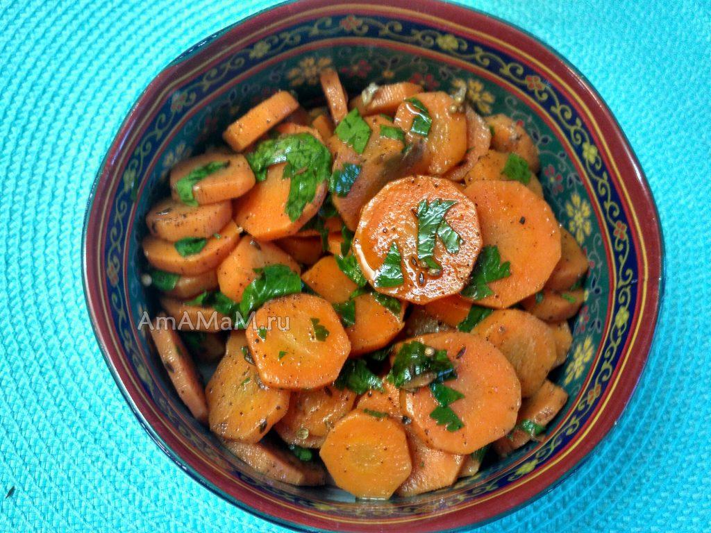 Классический марокканский морковный салат