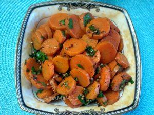 Салат из моркови кружочками - рецепт и фото