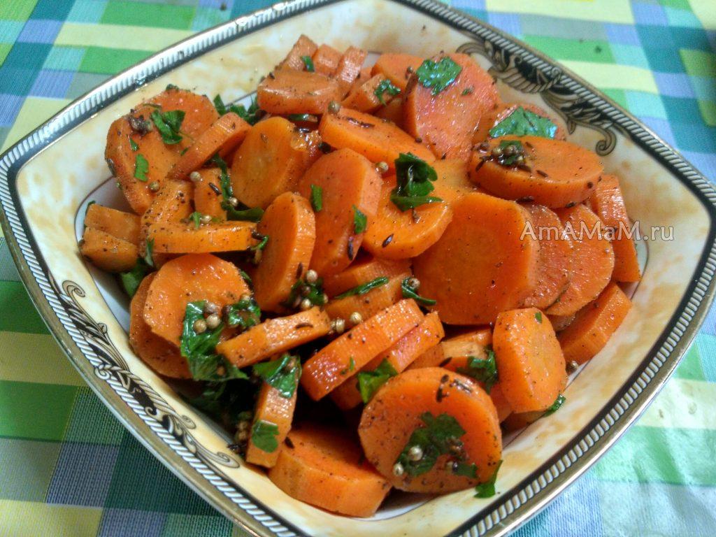 Салат марокканский из моркови