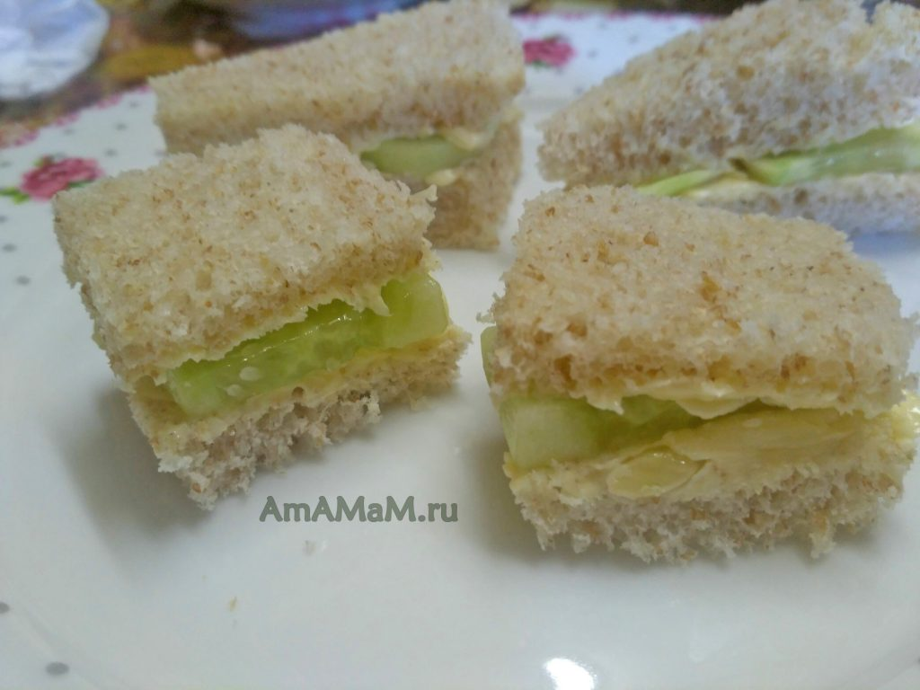 Пошаговые рецепта сэндвичей с огурцом по-англиски