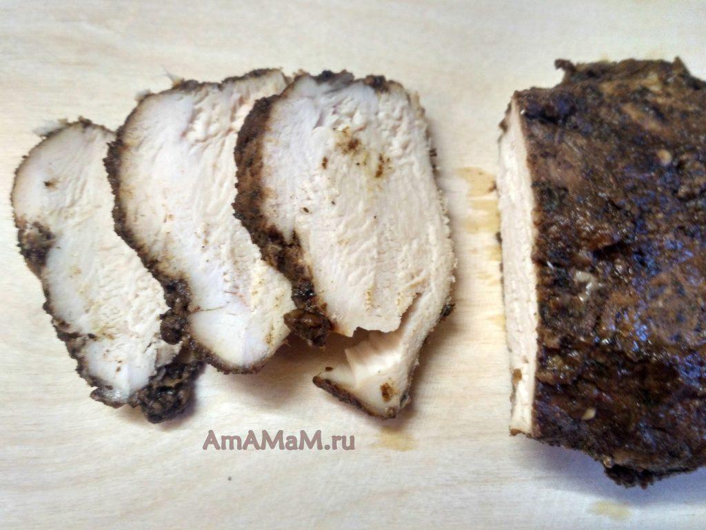 Пастрома из куриной грудки - фото и рецепт приготовления