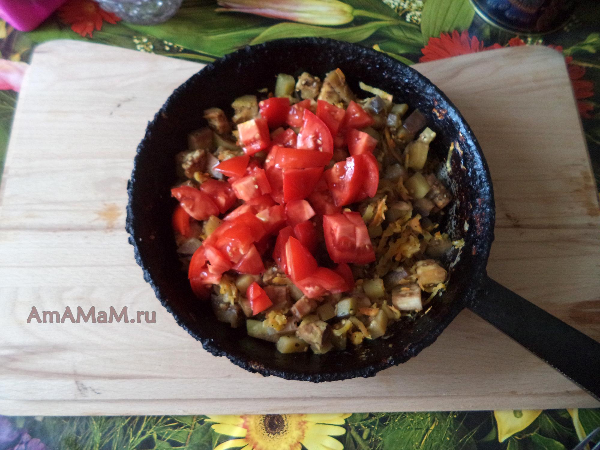 Овощное рагу с баклажанами пошагово