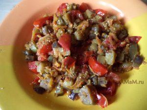 Рецепт рагу из баклажанов