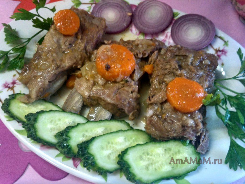 Блюдо из свиных треугольников (ребрышек)