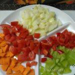 Заправка для супа овощная - нарезка