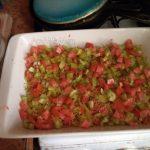 Как выложить овощную запеканку с вермишелью слоями