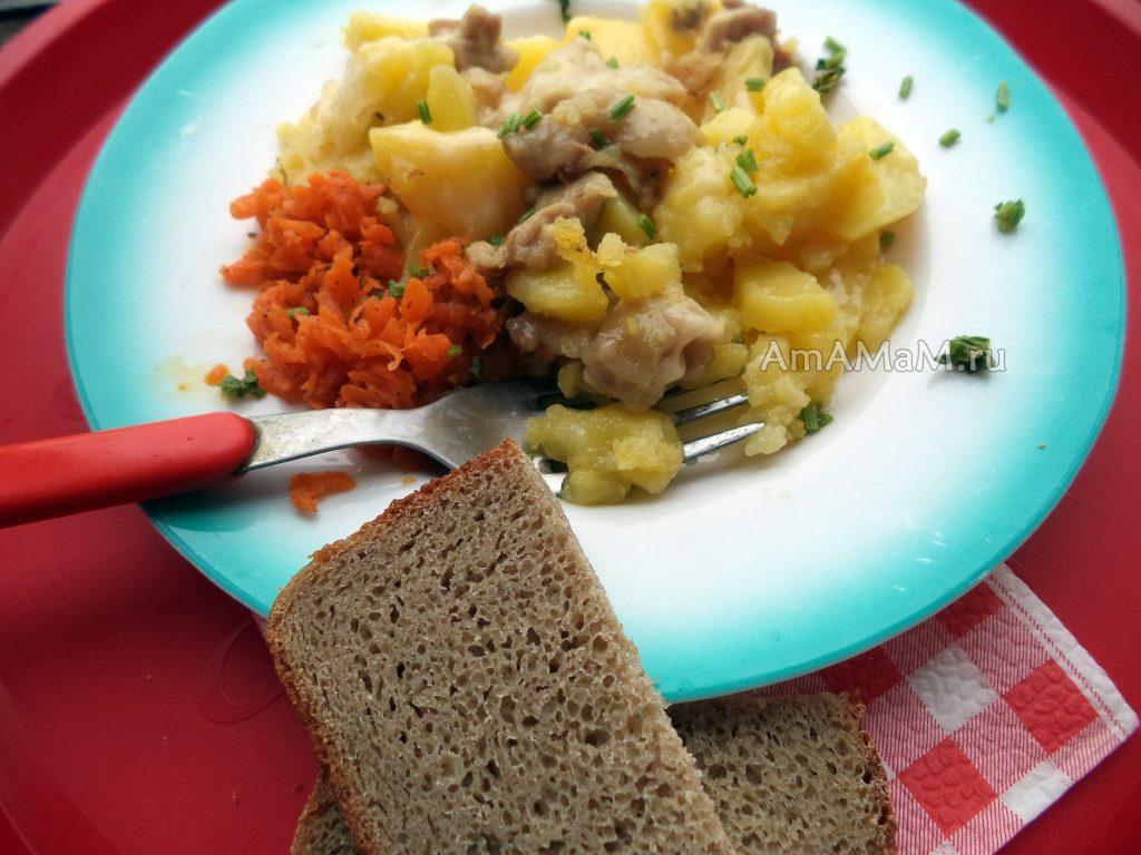 Картошка с курицей и сыром - рецепт с фото