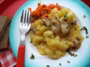 Картошка с курией под сыром - рецепт