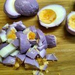 Нарезка яиц кубиками