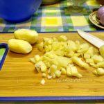 Нарезка картофеля кубиками