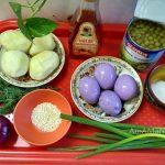 Салат из маринованных яиц с картофелем - состав продуктов