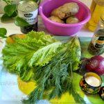 Что нужн для салата из картофеля и маслин