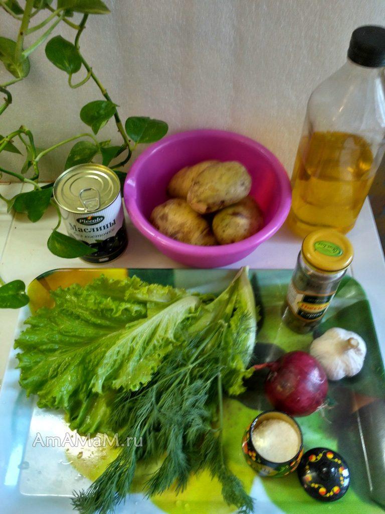 Ингредиенты салата из картофеля