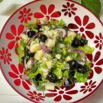 Рецепт салата с картофелем и маслинами