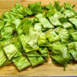Нарезка салата листового для салата