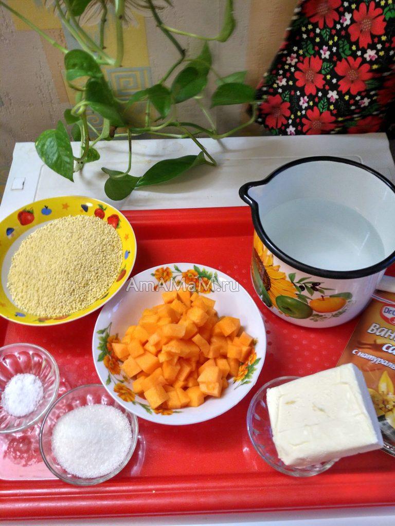 Рецепт пшенной каши с тыквой и сливочным маслом