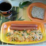 Салат из репы, моркови и петрушки