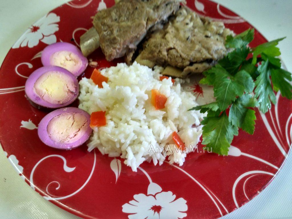 Каша из риса с маслом за 10 минут