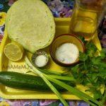 Салат из свежей капусты с огурцом - состав блюда