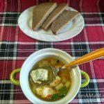 Домашний суп из грудки с галушками