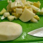 Нарезка картошки в суп