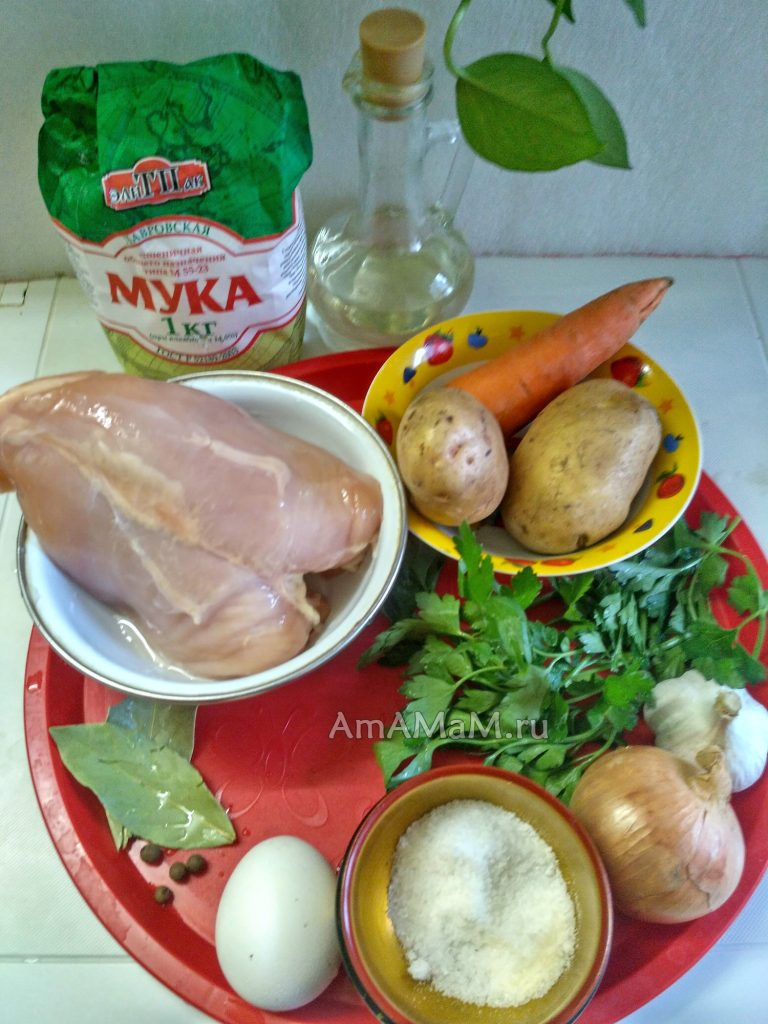 Суп с галушками - ингредиенты