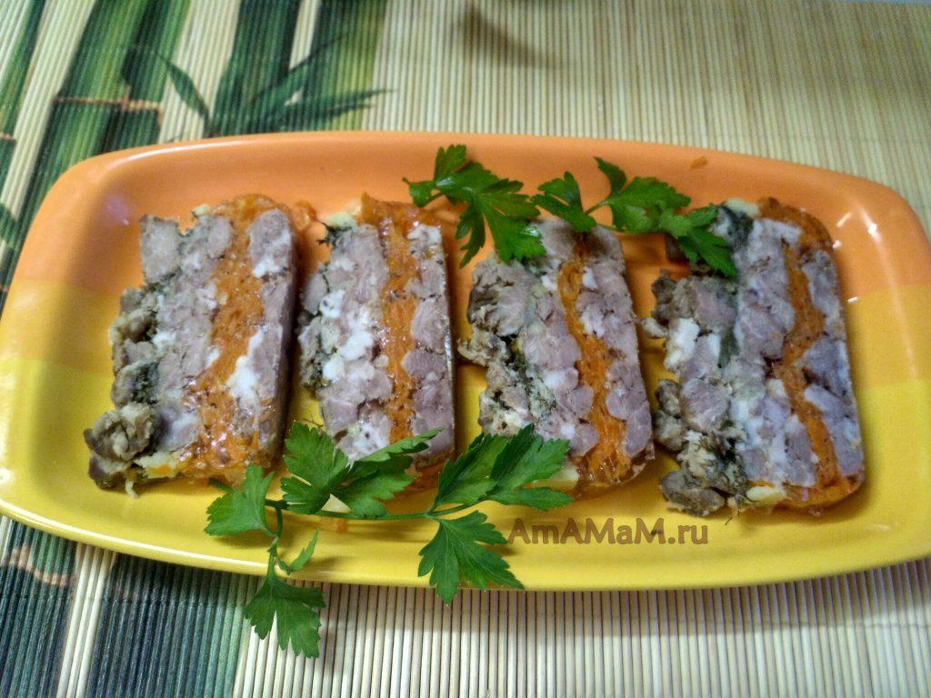 Мясной рулет-террин из свинины